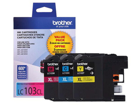Brother LC1033 - Tri Colour - Original Ink Cartridges (LC1033PKS)