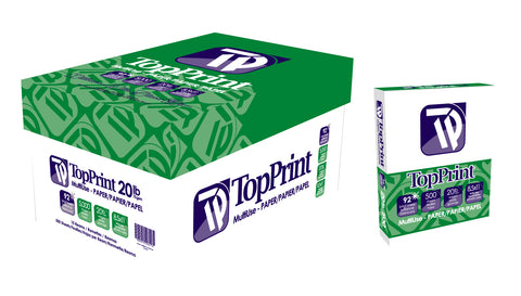 Top Print 92 Bright Premium Copy Paper - 1 Case