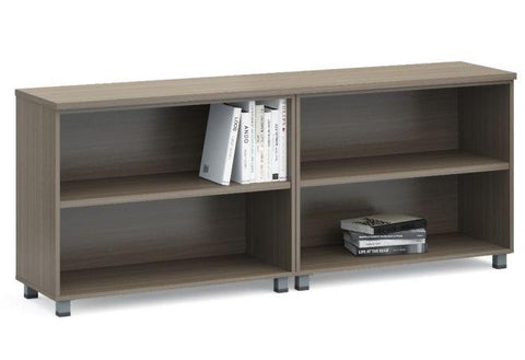 Modern Low Open Shelf Credenza