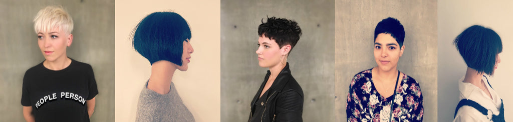 pixie cut hair style easy styling front side thick hair and thin hair