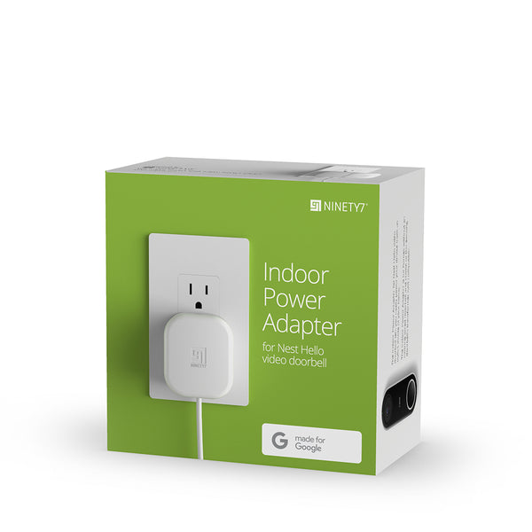 Ninety7 Indoor Power Adapter for Google Nest Hello Doorbell