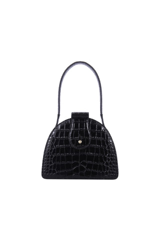 Paloma in Black Croc