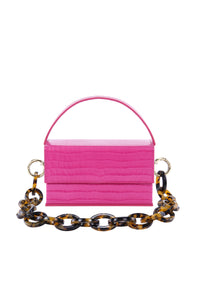 Ida Fuchsia Croc (Small) with Chain