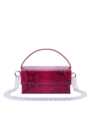Ida in Fuchsia Python (Medium) with chain