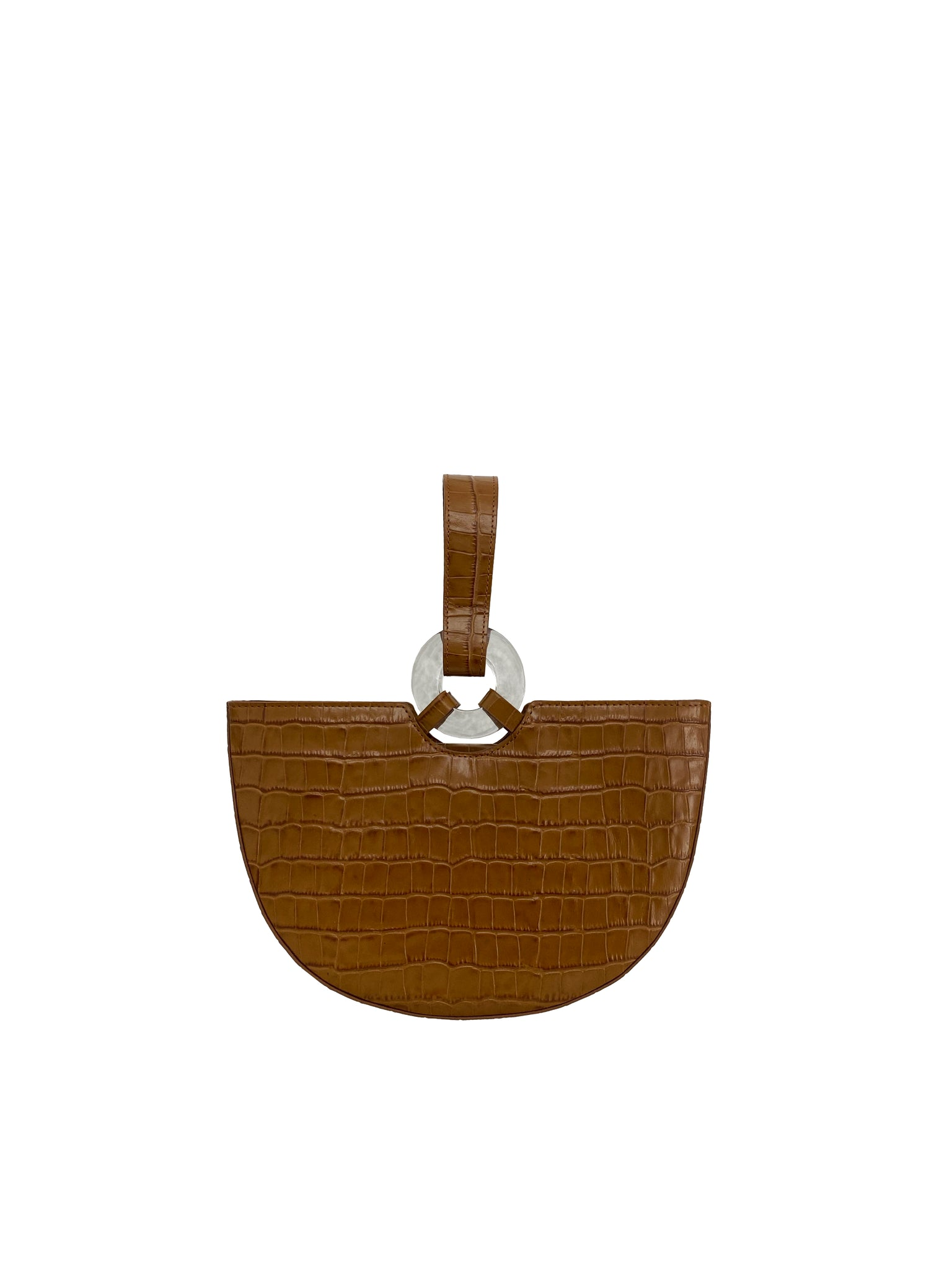 Ela Caramel Croc with Clear buckle