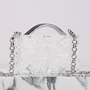 Eugene Crushed Ice (Silver Hardware) with Chain