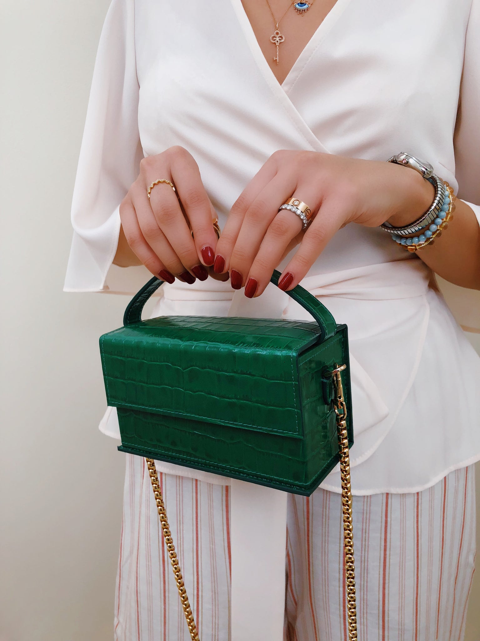 IDA Emerald Croc (Small) with Chain