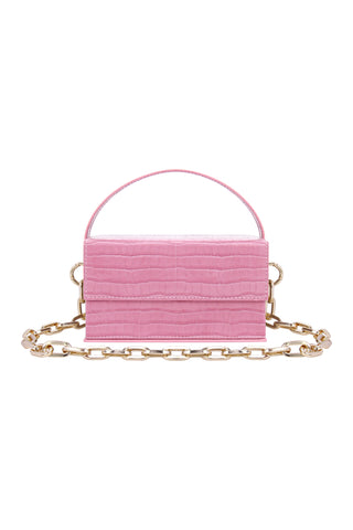 Ida Pink Croc (Small) with Chain