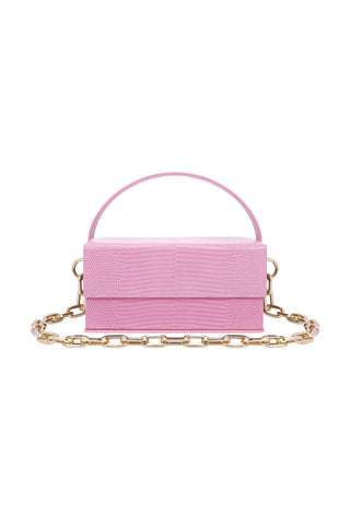 Ida Pink Lizard (Small) with Chain