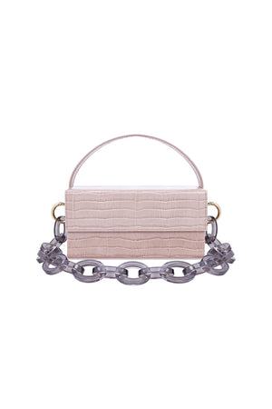 Ida Taupe Croc (Small) with Chain