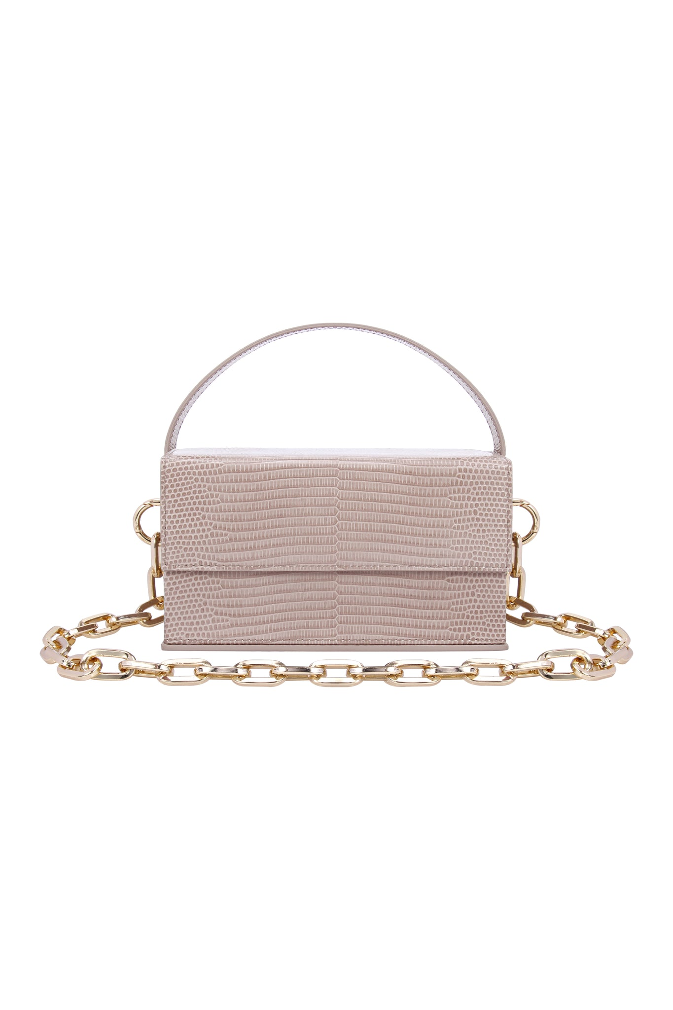 IDA Taupe Lizard (Small) with Chain
