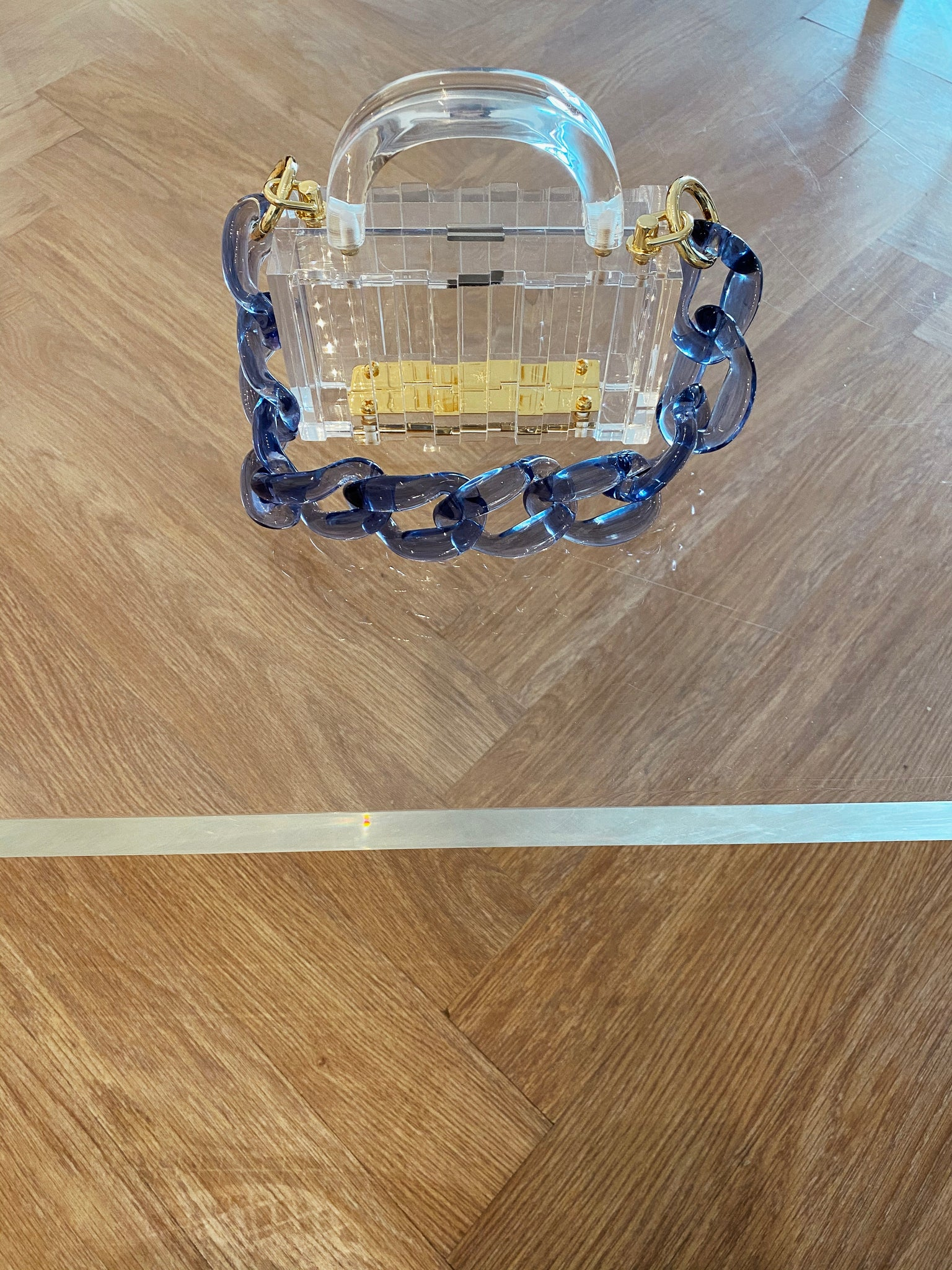 Mini Lucite Pagoda with Chain