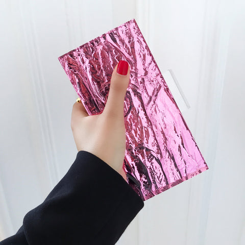 Pink Mirror Crushed Ice