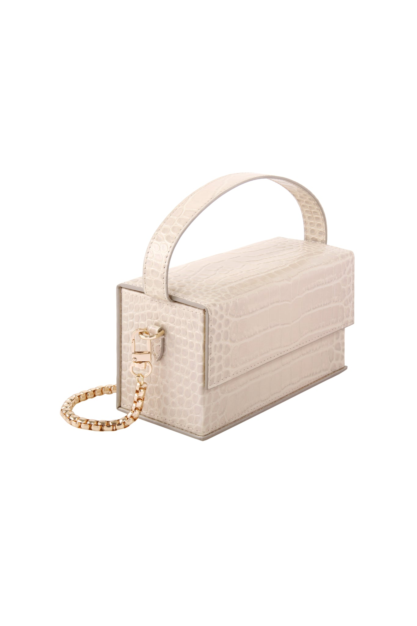 IDA Beige Croc (Small) with Chain