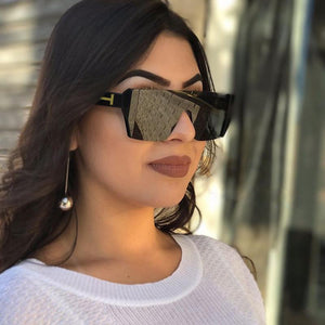 ROYAL GIRL Fashion Sunglasses Women Square Style Personality Exaggerated Original Brand Designer Glasses Female Goggles ss246