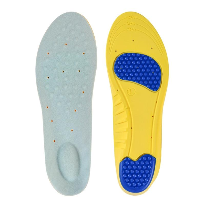 IBASETOY GEL Sports Orthotic Insoles for Shock Absorption Heel Protection and Foot Arch Support