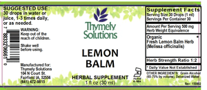 Lemon Balm 1oz