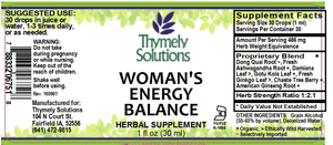 Womans Energy Balance 1oz