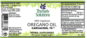 Oregano Oil 60Lc