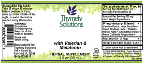 Sleep with Valerian & Melatonin 1oz