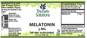 Melatonin 2oz