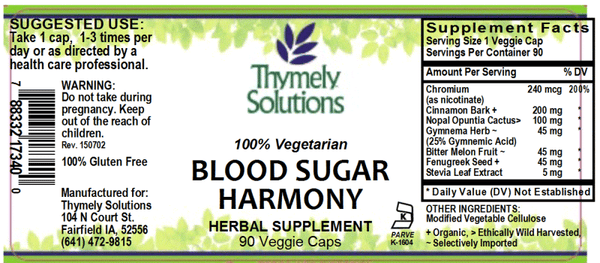 Blood Sugar Harmony 90C