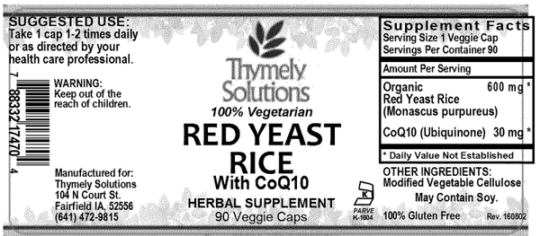 Red Yeast Rice W/ Coq10 90C