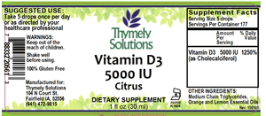 D3 5000IU Citrus 1oz