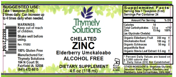 Zinc Elderberry Umcka 4oz