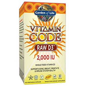 Vitamin Code Raw D3 2000IU 120C