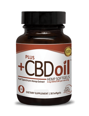 Plus CBD Oil Raw Formula Softgels 150mg 30c