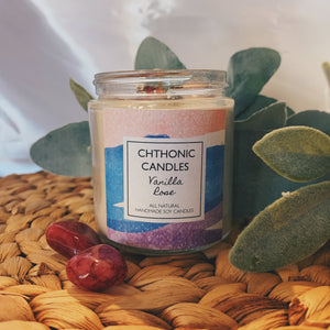 Chthonic Candles Vanilla Rose 4oz