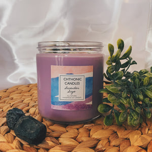Chthonic Candles Lavender Sage 16oz