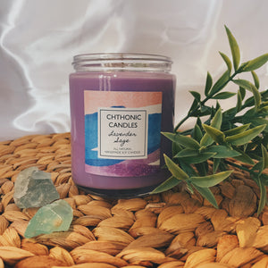 Chthonic Candles Lavender Sage 8oz