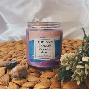 Chthonic Candles Lavender Sage 4oz