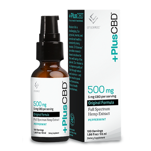 Plus CBD Oil Original 2oz 500mg Pump