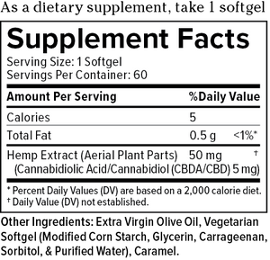 Plus CBD Oil Raw Formula Softgels 300mg 60C