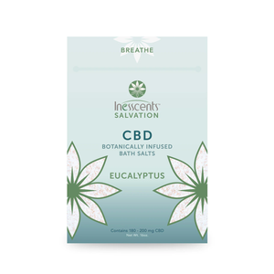 CBD Bath Salts Eucalyptus 4oz