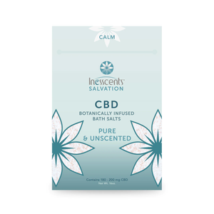 CBD Bath Salts Pure Unscented 16oz