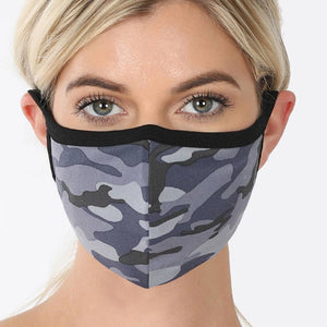 Contour Cotton Face Masks With Designs