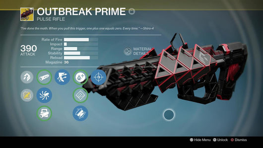 Outbreak Prime Exotic Pulse Rifle - Best Destiny Carries