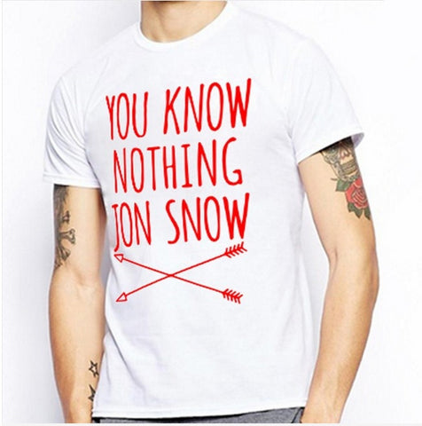 You Know Nothing Jon Snow t-shirt, men's