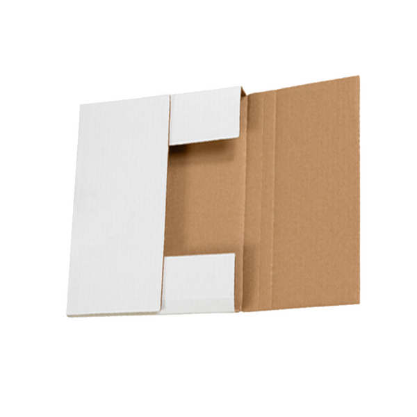 10 1/4 x 8 1/4 x 5/8,1 1/4 White Bookfold