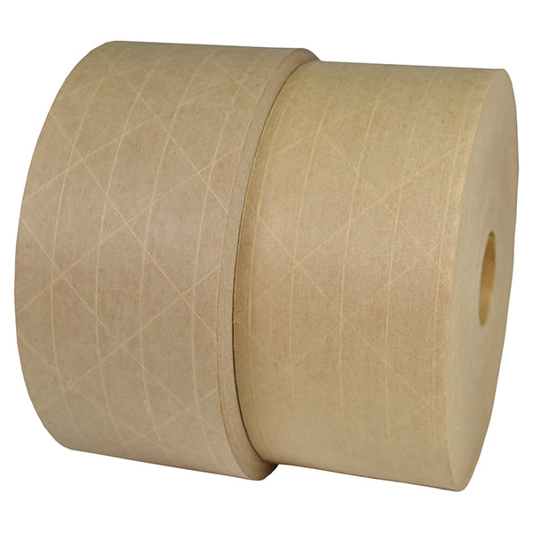 "Packaging Tape - 3"" x 450' Extra Heavy Duty Natural Kraft Water Activated tape"