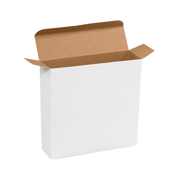 7 1/4 x 2 x 7 1/4 White Chip Carton