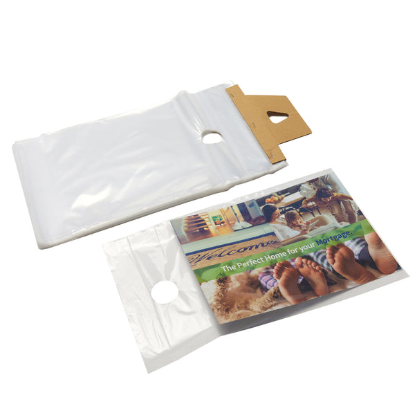 "10"" x 15"" 1.5 Clear Doorknob Bags - The Packaging Group"