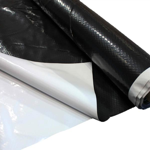plastic sheeting roll 60' x 160'  6 Mil Black Reiforced Dura-Skrim R6BB