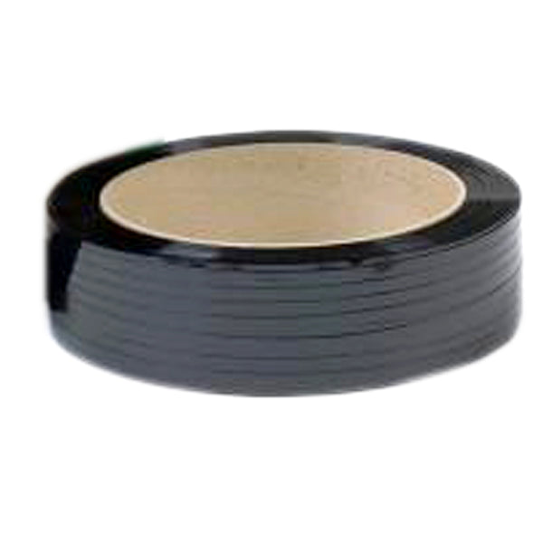 "Black Poly Strapping - 7/16"" x 7,700 HD729 16x6"