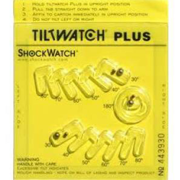 ShockWatch TiltWatch Plus monitor packaging damage
