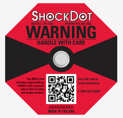 ShockDot Impact Indicator (RED) - 50 Pcs. (min 2 Cases)